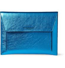 Men S Ipad Cases Designer Burberry Prorsum Metallic Leather Ipad Case Mr Porter