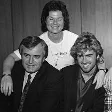 george michael and anselmo feleppa. Beautiful George George With His Parents Jack And Leslie Michael In March 1985 And Michael Anselmo Feleppa E