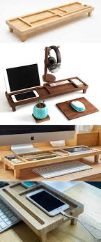 Wooden Stationery Desk Organizer Phone iPad Stand Holder Pen Holder Over  the Keyboard http:/