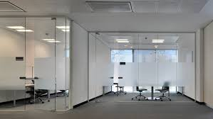 office dividers glass. toughened glass partitions office paritioning dividers d