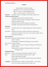 Example Of A Resume Format Weraz