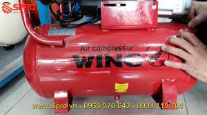 Máy bơm hơi mini xách tay giá rẻ Wing 1.5HP dung tích 25L - YouTube