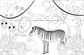 Jungle coloring pages for kids. Victorian Zebra Cardstock Decorate Jungle Coloring Pages Monster Coloring Pages Animal Coloring Pages