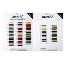 Omni V Sample Color Cards Variegated Poly Wrapped Poly Core Machine Quilting Thread