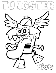 Small Picture mixels coloring page jinky Lego Mixels Pinterest Paw