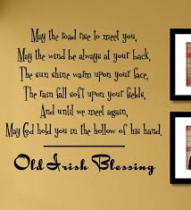 old irish blessing wall art