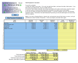 Debt Reduction Calculator Template Exceltemplates Org