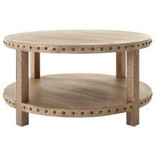 nailhead light washed oak coffee table