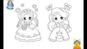Tranh tô màu công chúa dễ thương - Lương Ngọc Anh Blog   Công chúa, Dễ  thương, Hình ảnh