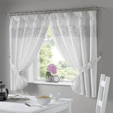 Silver Kitchen Curtains