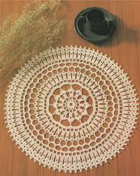 doily crochet pattern pdf round table mat circular placemat table centrepiece mandala vintage crochet patterns for the home