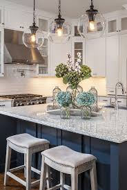Island decor ideas Pinterest Glass Tsangsco Gorgeous Home Tour With Lauren Nicole Designs Globe Pendant White