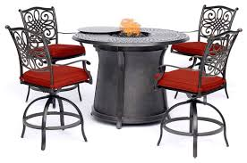 traditions 5 piece high dining set red