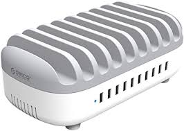 <b>ORICO</b> 120W <b>10</b> Ports USB Charging Station with On/Off Switch for ...