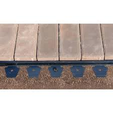 multipurpose paver edging project kit in black