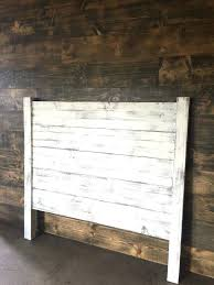 white shiplap headboard how to
