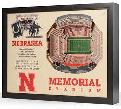 Nebraska Cornhuskers 25 Layer Wooden Replica Stadiumview 3d