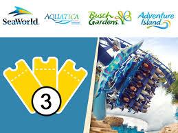 busch gardens ticket.  Busch Three Park Ticket To Busch Gardens Tampa Bay To N