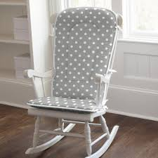 rocking chair cushions. Contemporary Cushions Gray And White Dots Stripes Rocking Chair Pad With Cushions A