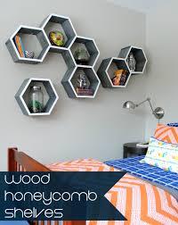 diy wood honeycomb shelves