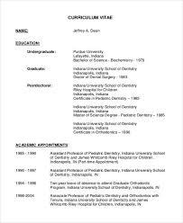 Fresh Dentist Cv Template Breathtaking Curriculum Vitae Templates 8