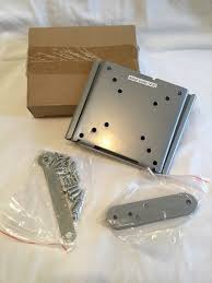 argos flat to wall tv bracket up to 32 inch brand new in box silver