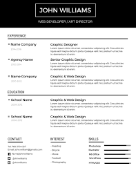 Impressive Resume Templates 24 Most Professional Editable Resume Templates For Jobseekers 5