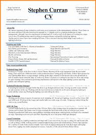 5 Cv Sample Word Document Theorynpractice
