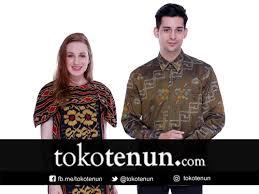 Baju couple dominan batik yang elegan. Baju Lamaran Couple Tenun Tokotenun Com