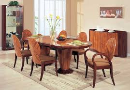 Elegant Oval Glass Top Dining Table With Wood Base 25 For Home