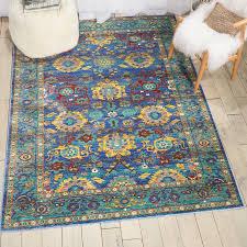 dlm04 delmar blue navy rectangle arabesque geometric nourison