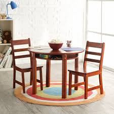 lipper child s round table with shelf 2 chair set multiple colors com