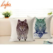 decorative euro pillows. Fine Euro Pillowcase Owl Lion Wolf Animal Cotton Linen Cushion Covers Home Decorative  Pillows Bedroom Euro Pillow Cover Intended O
