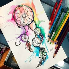 Colored Dream Catchers Best Colorful Dream Catcher Drawing Google Search Drawing Pinterest