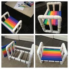 I made a little chair for children out of PVC pipes DIY