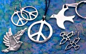 peace symbol and dove jewelry