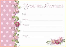 Awesome Free Printable Invitation Templates Gallery
