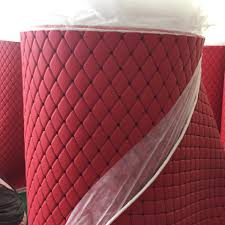 china hot custom stitch vinyl on the roll diamond stich quilt foam leather embroidery leather pvc leather for car interior china artificial leather