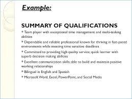Summary Of Qualifications Resume Impressive Summary Of Qualifications Resume Example Resumelayout