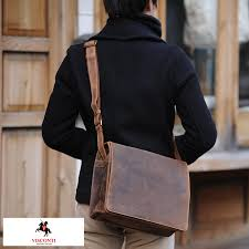 men s shoulder back a4 vintage taste bag bag bag for the genuine leather shoulder bag men