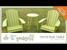 diy patio end table tl you