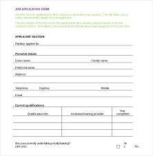 Employee Application Form Word Employment Application Templates 10 Free Word Pdf