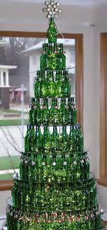 The Christmas Tree of Glass Bottles