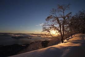 Sunrise On A Winter Morning In Japan Hd Wallpaper