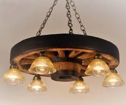 6 downlight wagon wheel chandelier