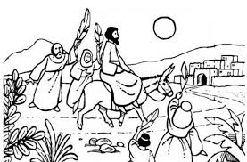 Small Picture Jesus Rode a Donkey to Jerusalem in Palm Sunday Coloring Page