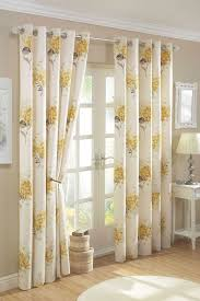yellow gold cream lined curtains with eyelet ring tops 66 x 72 co uk kitchen home