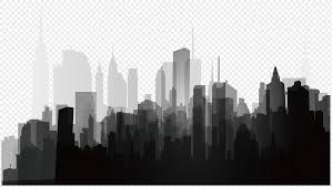 Background Of Black Grey Urban Silhouette Png Image_picture Free
