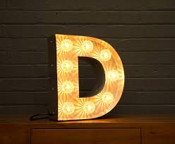 light up marquee bulb letters d