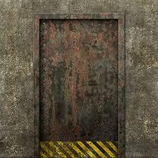 Interesting Metal Door Texture Concrete Rusty L To Impressive Design